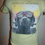 Стильная яркая брендовая футболка.Mango Манго . 6-8 лет