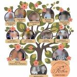 Дизайнерское оформление Вашей родословной генеалогическое древо в виде схемы, картины