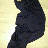 Шикарный женский шелковый шарф. Шарф палантин.Шаль из натурального шелка. Германия.