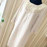 Красивое расшитое платье monsoon большого размера новое