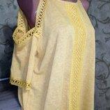 Шикарная Солнечная Модная Блуза туника New Look Блуза на пышную красу, размер 18