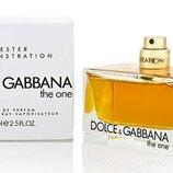 Женская парфюмированная вода Dolce&Gabbana The One тестер