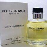 Мужская туалетная вода Dolce&Gabbana pour Homme 125 мл. Оаэ тестер без крышечки