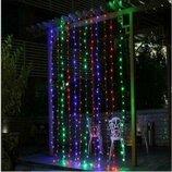 Гирлянда Штора-Водопад 2х2 м 240 LED с переходником