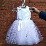 Детское новогоднее платье снежинка