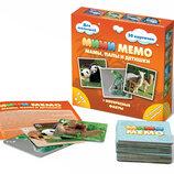 Настольная игра Мими Мемо Экзотические животные 5в1 /Мімі Мемо Екзотичні тварини 8064 Нескучные игры