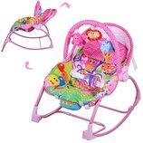качалка стульчик с вибро режимом розовый
