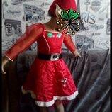 Платье Санта карновальное