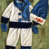Костюм снеговика на 5 6 лет 110 116 прокат продажа