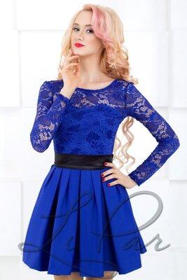 Нарядное женское платье с верхом из гипюра. Разные цвета и размеры