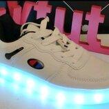 Новые детские кроссовки со светящейся LED подошвой 26,27,28,29,30,31,32,33,34,35,36,37р Киев