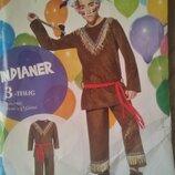 Карнавальные костюмы 1,5-10 лет 92-140 Германия котенок, индеец