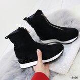 18496 ботинки женские, ботинки демисезонные, ботинки на флисе