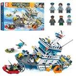 Конструктор SD9796. Конструктор Sembo. Морская полиция аналог Lego City. Конструктор аналог Лего.