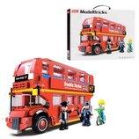 Конструктор SLUBAN M38-B0708. Автобус. Конструктор аналог Лего.