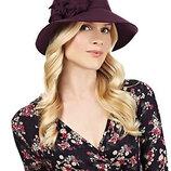 56-57см m&s круглая шляпа с широкими полями шляпка слауч флоппи винтаж с декором