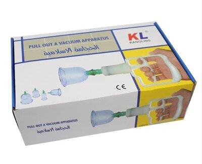 Массажные вакуумные банки с насосом-вакууматором Kangling Vacuum 12 шт