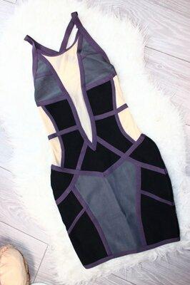 платье Бандажное цветное . S