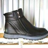 Кожаные зимние мужские ботинки сапоги 40-45 р