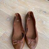 Туфли детские 21,6 см стелька рр 36 H&M НМ Коричневый