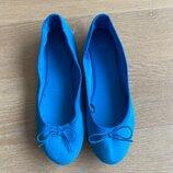 Туфли детские 21,6 см стелька рр 36 голубой ткань H&M НМ