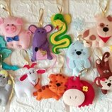 Набор елочных игрушек символ года Hend meid ручная работа