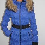 Синее пальто куртка пуховик UNI.Co размер XXL