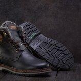 Ботинки подростковые Zangak 137 черные натуральная кожа, зима
