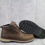 Ботинки подростковые Yuves 782 коричневые-матовые натуральная кожа, зима