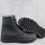 Ботинки подростковые CrosSAV 150 черные натуральная кожа, зима