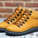 Мужские стильные кожаные тёплые ботинки два цвета