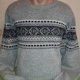 Мужской красивый свитер/джемпер с содержанием шерсти angelo litrico c&a