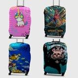 Защитные чехлы для чемодана из дайвинга с принтом XS, S, M, L