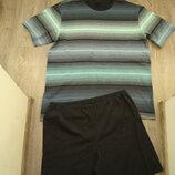 Schiesser-Германия-XL-мужская пижама с шортами