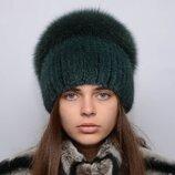 Женская норковая шапка Водопад 121