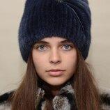 Женская норковая шапка Кися стразы 127