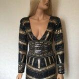 Платье в пайетки boohoo размер 10