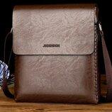 Классическая мужская сумка почтальон с плетением