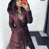 Женская зимняя куртка пальто на силиконе