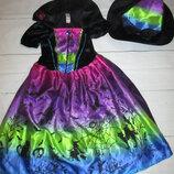 Очень красивый костюм колдуньи TU 7-8лет волшебница ведьма