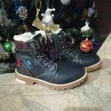 Ботинки зимние для мальчика, чобітки зимові для хлопчика, 29 розмір, 30 розмір, 18,5 см