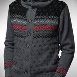 Акція, турецький чоловічий светр з капюшоном, застібається на ґудзиках, теплий, толстовка, зимовий