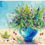 Картина по номерам Идейка. Цветы Земляничный аромат 40 50см KHO2935