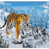 Картина по номерам Идейка. Два тигра KHO194