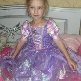 Карнавальное платье Рапунцель 5-6 лет.