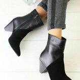Ботильоны ботинки женские кожаные демисезонные распродажа