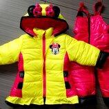зимний теплый костюм рост 104