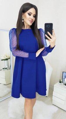 Платье с прозрачными рукавами Муза 42-44 46-48