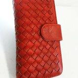 Женский большой кошелек красный гаманець жіночий червоний