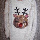 Свитшот травка новогодний олень джемпер свитер